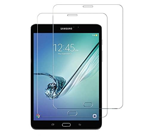 [2 Stück] WEOFUN Kompatibel mit Panzerglas Schutzfolie Samsung Galaxy Tab S2 8.0,Panzerglas Samsung Galaxy Tab S2 8.0[0.33mm, 9H, Ultra-klar]