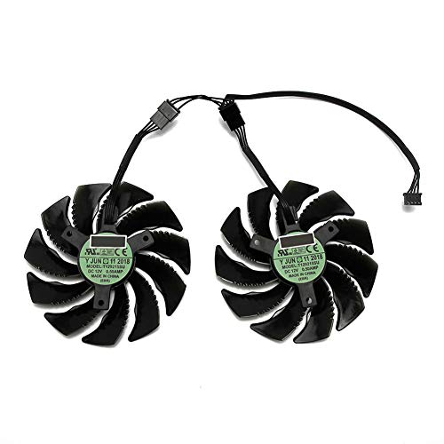 88MM T129215SU PLD09210S12HH 4Pin Cooling Fan for Gigabyte GTX 1050 1060 1070 960 RX 470 480 570 580 Graphics Card Cooler Fan (2 PCS)
