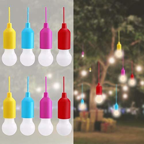 Lampop 8pc Tragbare LED-Lampe,LED Campinglampe, Lamping LED Leuchte,mit Zugschalter für Wandern, Angeln, Schreibtisch, Camping, Garten, BBQ