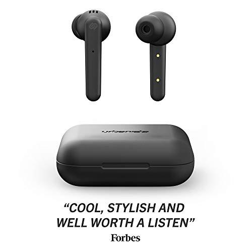 Urbanista Paris True Wireless Auriculares 20H, Bluetooth 5.0, Insonorizante Auriculares con Control Táctil + Micrófono Incorporado, Compatible con Android e iOS - Negro