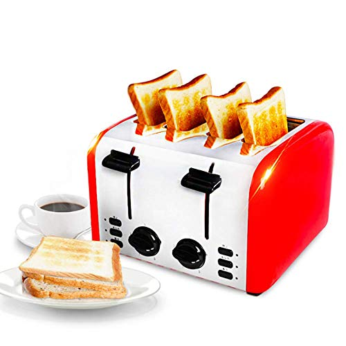 L.BAN Toaster 4 Slice, 5-Gang-Einstellung, Auftauen, Auftauen, leicht zu reinigen, für Bagels, Brotspezialitäten und andere Backwaren, tragbar für die Küche zu Hause