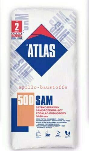 SAM 500 Atlas Ausgleichsmasse Fließspachtel - Bodenspachtel Selbstverlaufend 25 kg
