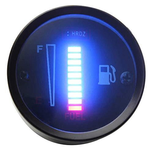 Medidor de combustible 12 V DC 52 mm Sensor de nivel durable ligero Tank reloj accesorios Clear indicador de repuesto para coche motocicleta universal modificado LED visualización