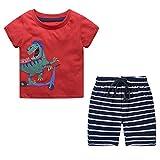 Ropa Bebe Niño Conjunto Camiseta y Pantalon Corto Disfraz Verano Traje Chandal Primavera Pijama 18 Meses - 6 Años