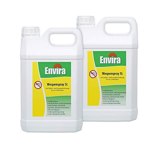 Envira Wespen-Spray - Anti-Wespen-Mittel Mit Langzeitwirkung - Geruchlos & Auf Wasserbasis - 2 x 5 Liter