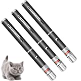 3 PCS Green Red Violet Long Range Laser Dot Clicker Toy Pen for Indoor Interactive Teaching, Outdoor Cat Toys Pointer, Puppy Kitten Lazer Toy, Bright Clicker for Dog Training Exercise