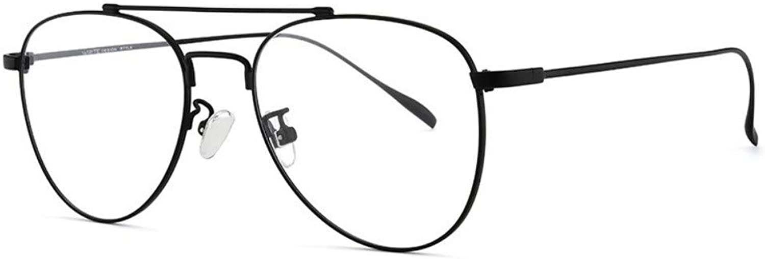 Antibluee Radiation Glasses no Degree Flat Mirror Trend Round Frame Men and Women with The Same Paragraph Black