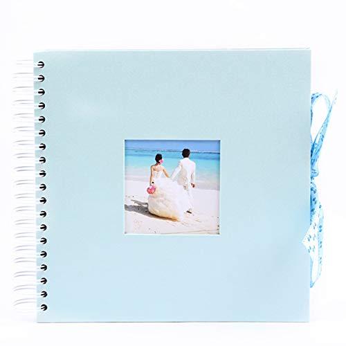 Fangehong Fotoalbum Schwarze Seiten 40 Blatt, Scrapbook Fotoalbum Ringbuch 10 x 10 zum Selbstgestalten, Scrapbook Album Hochzeit Groß Selbstklebend für Kinder, Baby