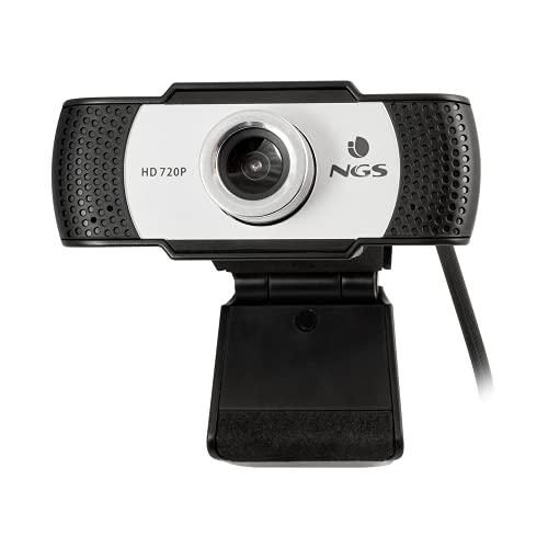 NGS XPRESSCAM720 - Webcam HD 1280x720 con Conexión USB 2.0, Micrófono Incorporado, 1Mpx de Resolución Real y Plug&Play