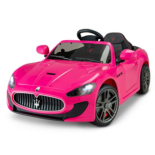 Kid Trax Electric Kids Luxury Maserati Convertible Car Ride-On Toy, 6 Volt Battery, Remote Control, Ages 3-5 Years, Pink
