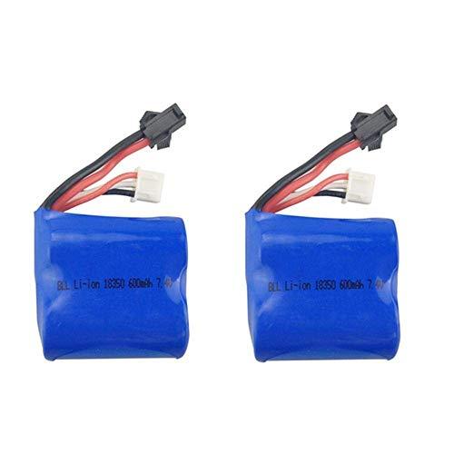 GzxLaY Batteria di Backup ad Alte Prestazioni 2PCS 7.4V 600mah Batteria al Litio per Q2 Q3 Skytech H100 H102 H106 Accessori per Barche telecomandate Batteria al Litio per Barche