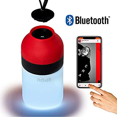 Portable Waterproof Bluetooth Speaker Mini Nous H3 with LED Lamp from NOUS