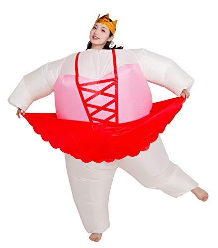 FunnyCos Aufblasbares Ballerina-Kostüm für Ballett Cosplay Gr. One Size, Lace-up Ballet