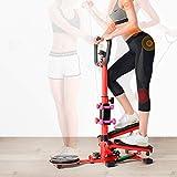 Cocoarm 4 en 1 Stepper para casa, fitness, con mango y pantalla LCD, multifuncional, con barra de pesas y disquete de cintura
