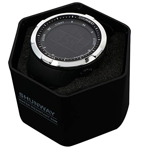 BESPORTBLE Schwarz Digitale Sport Uhr Wasserdicht Handgelenk Uhren für Männer Frauen Leucht Übung Fitness Elektronische Uhr Armband