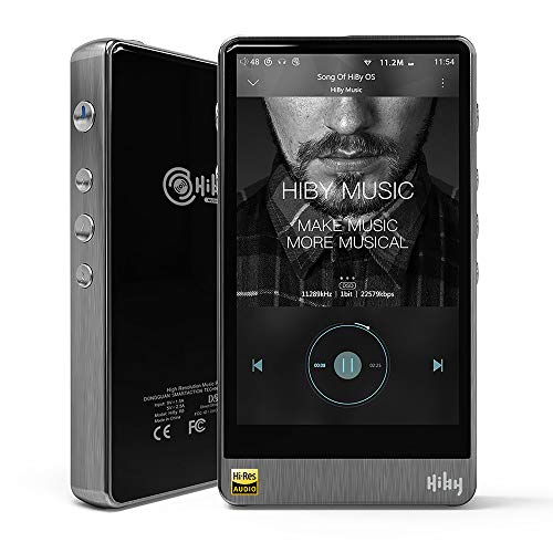 HiBy R6 Pro Hi-Res Music Player, High Resolution Audio Player with aptX/atpX HD/LDAC/Bluetooth/DSD/Amazon Music Ultra HD/Android 8.1/5G WiFi/4.4 Balance Output, HiFi Lossless MP3 Player Touch Screen
