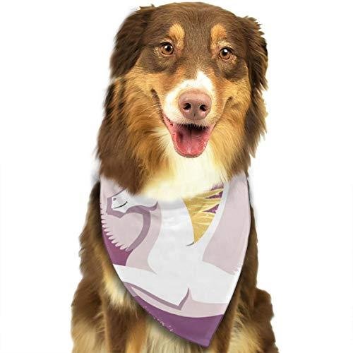 Pegasus Sternbild Himmel Vogel personalisierbar Hund Katze Halstuch Set geeignet für kleine bis große Hunde Katzen