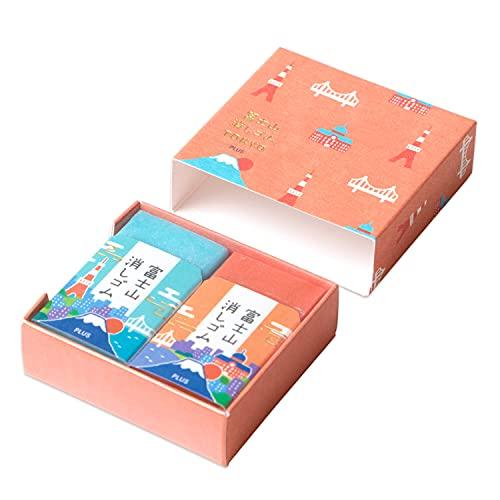 プラス 消しゴム 富士山消しゴム TOKYO あかね ER-100AIF-2P 36-089