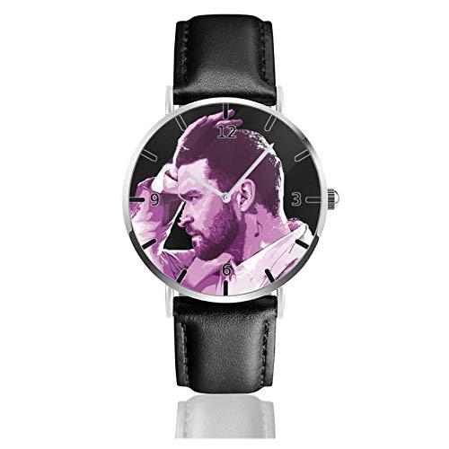 Los niños Miran Reloj Pulsera niño Historieta 3D Impermeable Justin Timberlake Pantalla Redonda 38mm Batería de botón Poder Unisex Watch