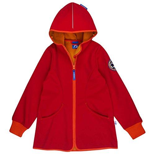 FINKID Jungen Softshelljacke SISKO SHELL 3223028 in rot (red/carrot 200237), Kleidergröße:110/120;Farbe:rot (red/carrot 200237)