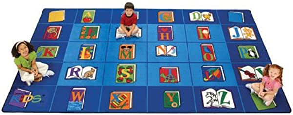 Carpets For Kids 2613 Reading By The Book Rectangle Carpet 8 4 X13 4