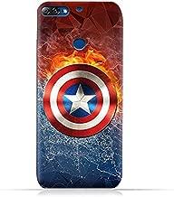 Lenovo K5 Note 2018 TPU Silicone Protective Case with Shield of Captain America Design