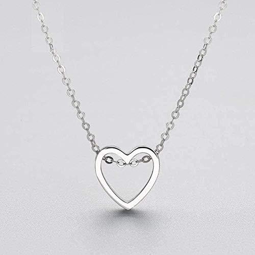 Collar para mujer, hombre, mujer, colgante de plata, elegante, minimalista, corazón, superficie lisa, colgante, collar, geométrico, 925, para mujer, joyería de boda, amante, regalo, colgante