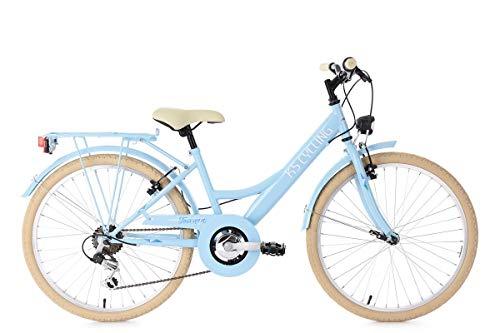 KS Cycling Kinderfahrrad 24'' Toscana blau 6Gänge RH36cm