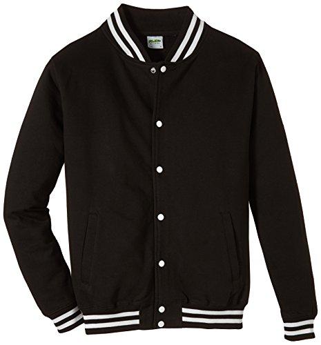 Coole-Fun-T-Shirts Herren Sweatshirt Deutschland Adler Collegejacke, Schwarz, XXL, 10881
