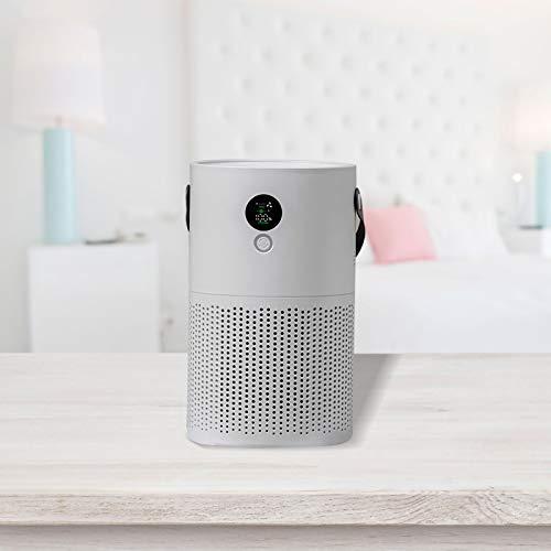 Aire acondicionado portátil, humidificador de aire, aire acondicionado, aire acondicionado, portátil, 3 niveles de velocidad, ventilador de aire acondicionado, enfriador de aire USB, color gris