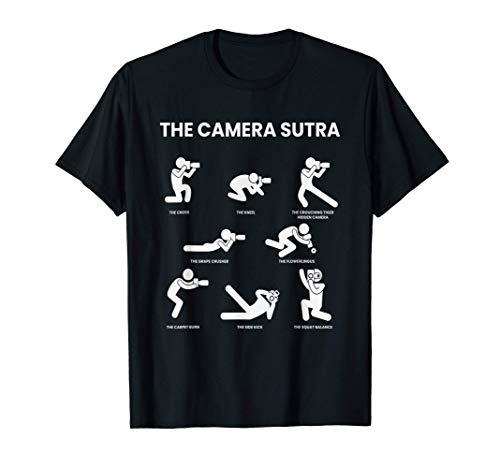 La cámara Sutra I Fotógrafo Cámara Fotografía Lente Afición Camiseta
