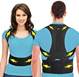 SOMAZ Adjustable Posture Corrector for Men&Women&Kids, Slouching Corrector, Clavicle Support, Back Straightener, Upper and Lumbar Back Brace Support for Rounded Shoulders & Back Pain (M)…