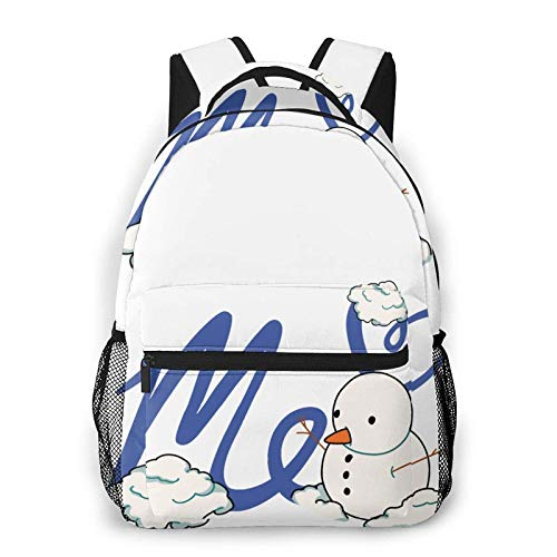 Moriah-Elizabeth-Me Merch Unisex-adult Men and Women Large Capacity Backpack Graphic Lightweight Travel Leisure Fashion Bag One Size