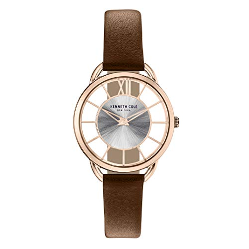 Reloj Kenneth Cole Transparency para Mujer 34mm, pulsera de Cuero Sintético
