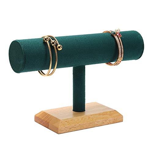 WZ Verde Microfibra Madera Maciza Titular Pulsera Exhibición del Organizador Joyería Brazalete Colgantes Tobillera Y Soporte para Reloj Exposición Tiendas Minoristas