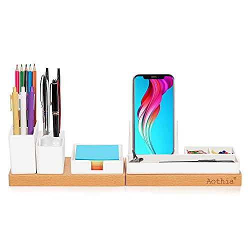 Aothia Desk Organizer, Office Accessories Storage with Adjustable...