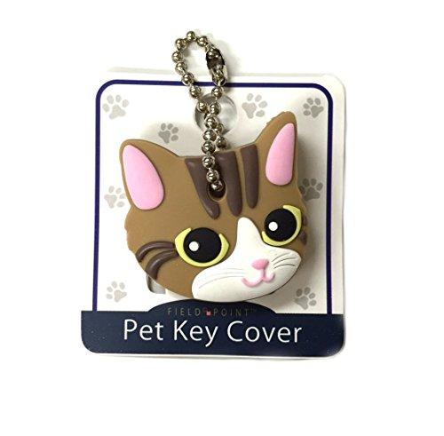 Key Cover/Key Caps/Key Holder/Keycaps - Cute Animal Pet Faces (Brown Cat)
