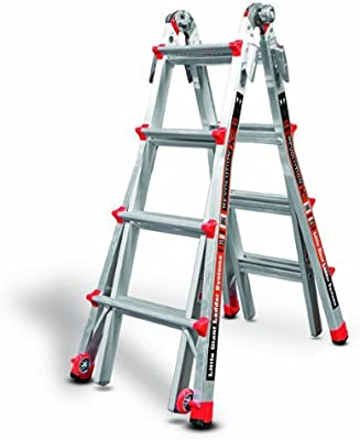 Little Giant Ladder Systems 12017 RevolutionXE Articulating Ladder, Model 17, Aluminum/Orange (Renewed)