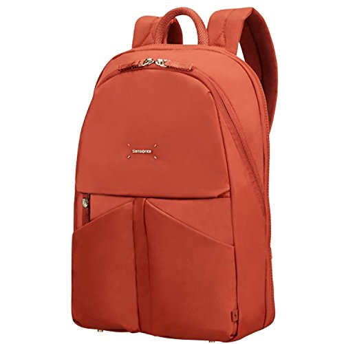 """Samsonite Lady Tech Rounded Backpack 14.1"""" Mochila Tipo Casual, 14.5 litros, Color Rojo Rust"""