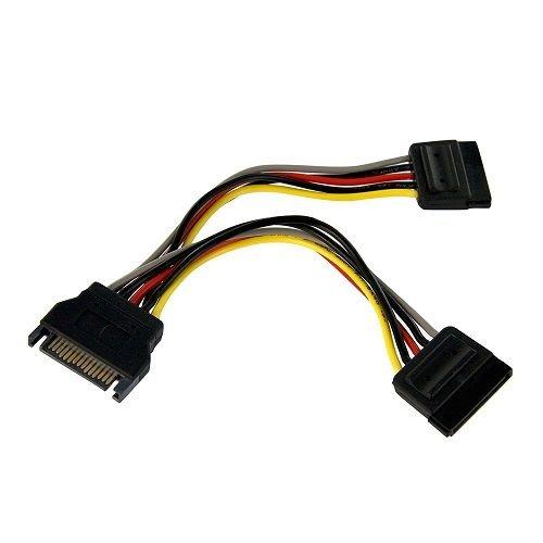 CABLEPELADO Cable alimentacion multiplicador SATA Macho a 2X SATA Hembra 0.20 M...