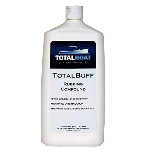 TotalBoat TotalBuff Marine Rubbing Compound (Quart) | Removes Heavy Oxidation and Scratches | Aggressive Fast Cut Liquid Formula for Fiberglass Gelcoat & Paint Restoration on Boats and Cars