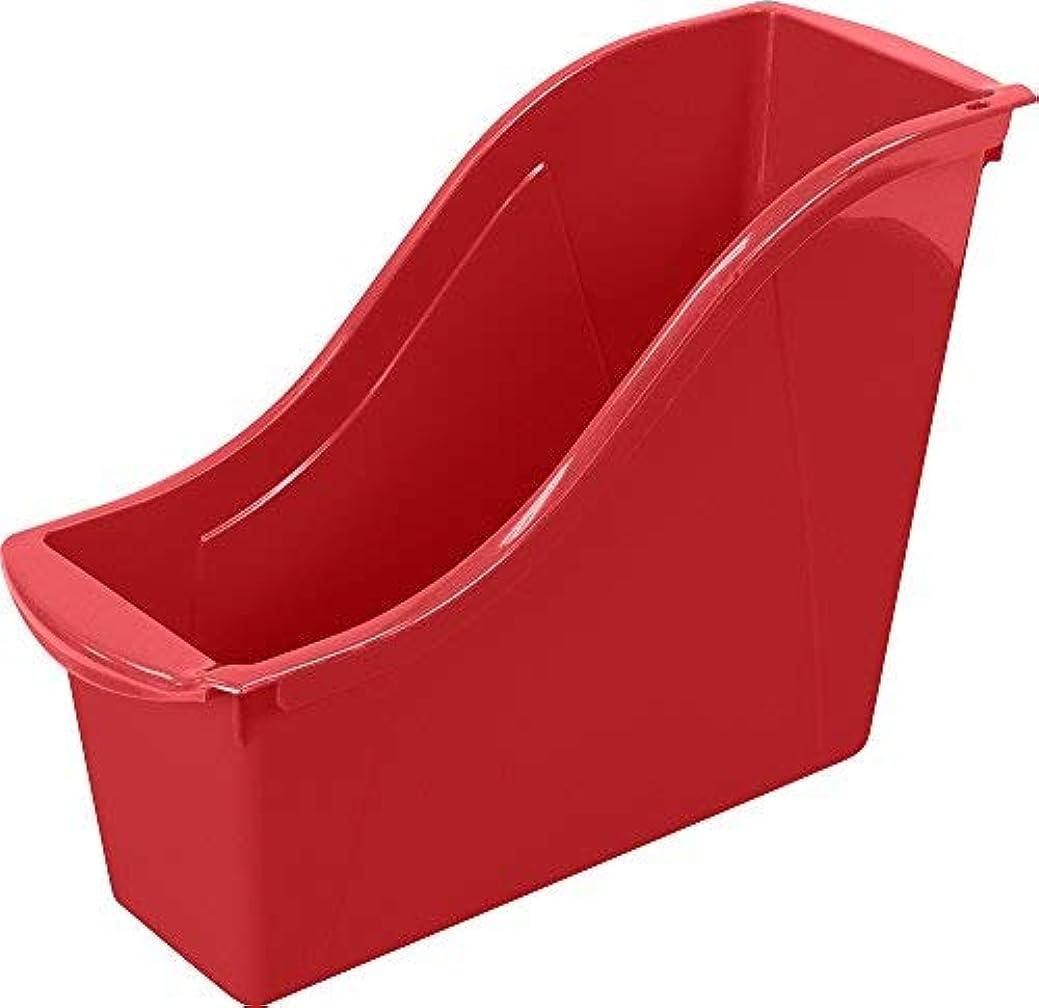 調整酸化物要旨Storex Small Book Bin 11.75 x 4.5 x 8.5 Red Case of 6 (71109U06C) [並行輸入品]