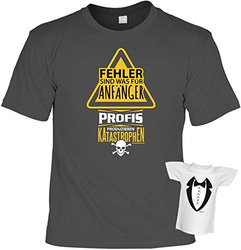 Tolles und witziges T-Shirt Set : Fehler sind was für Anfänger Profis produzieren Katastrophen Farbe: anthrazit