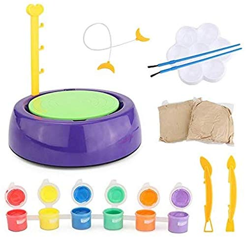 ZGHYBD Pottery Wheel, Pottery Studio Kit, Educational Toy, DIY Toy with Clay For Kids Craft Toys Mini Pottery Wheels Arts