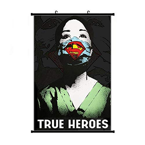 Er Heroes - Coronavirus - Doctors Pullover Hoodie Anime Living Room Bedroom Home Decoration Gift Fabric Wall Scroll Poster (16x24) Inches