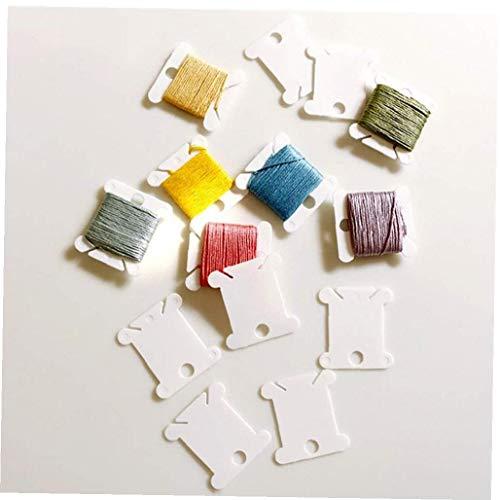 20 piezas de plástico del hilo de coser Placa Winding Junta de punto de cruz bordado de seda del arte de rosca Bobinas Bobinas Organizador plástico de la seda para el bordado Floss Organizador