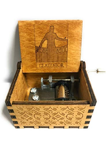Laser Engraved Vintage Cute Boxes.Birthday//Halloween//Christmas//Valentines Day fezlens Music Box Gift This is Halloween Wooden Music Box Black