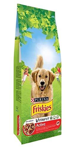 Friskies Hundefutter Active Fleisch Mega Format 18 kg (3 Stück)