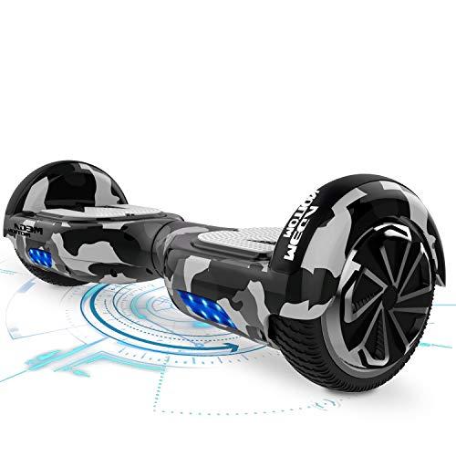 """MARKBOARD Hoverboards Scooter autoequilibrado de 6.5""""Hoverboard autoequilibrado con Altavoz Bluetooth y Luces LED Patinete eléctrico niños de Entre 8 y 12 años"""