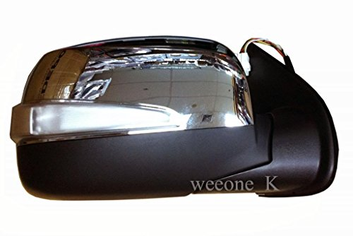 Aftermarket Parts 1 Right Side Power Mirror Side Rear View with Turn Signal Light for Isuzu Dmax D-max Pickup 2007 2008 2009 2010 2011